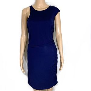 Jay Godfrey Navy Blue Asymmetrical Dress